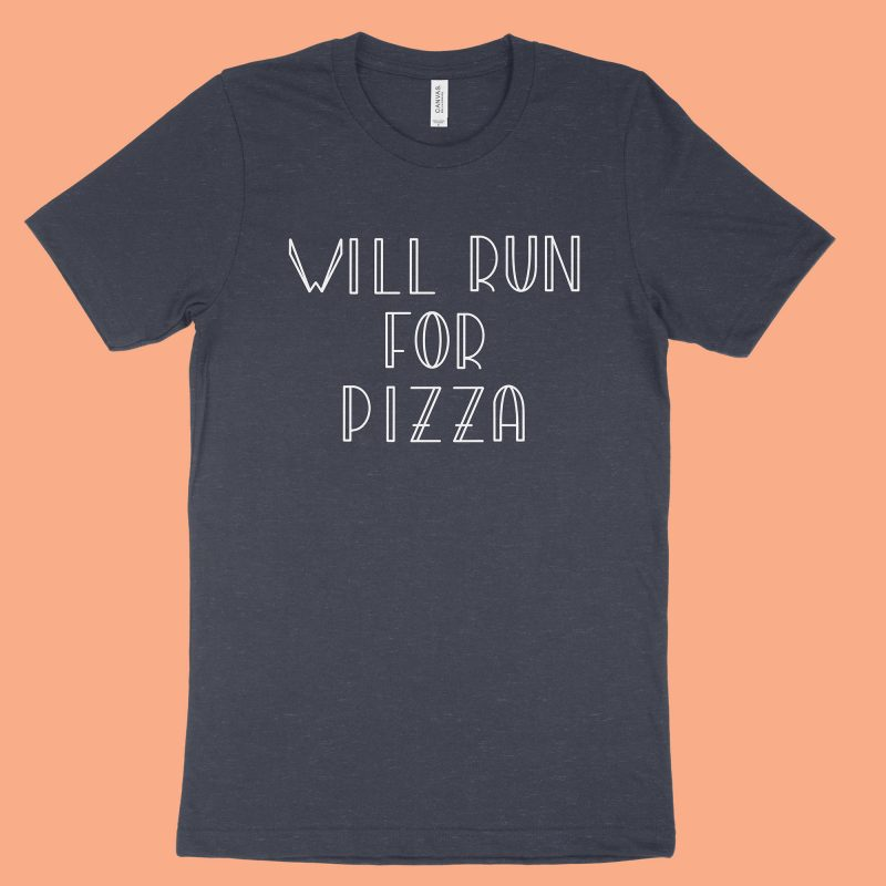 Will Run for Pizza - Navy